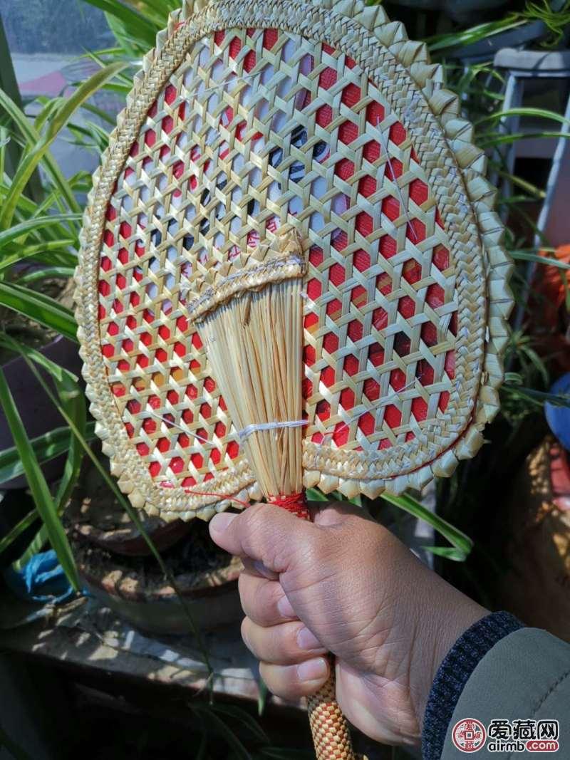 纯手工小麦秸秆扇子惠农
