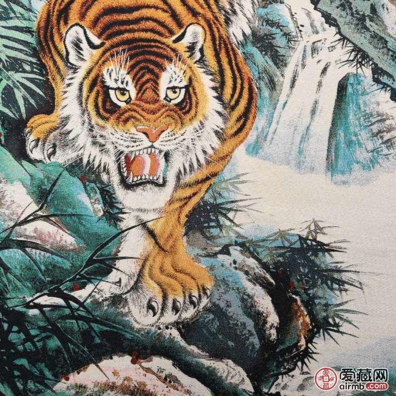锦织刺绣画《下山虎》尺寸