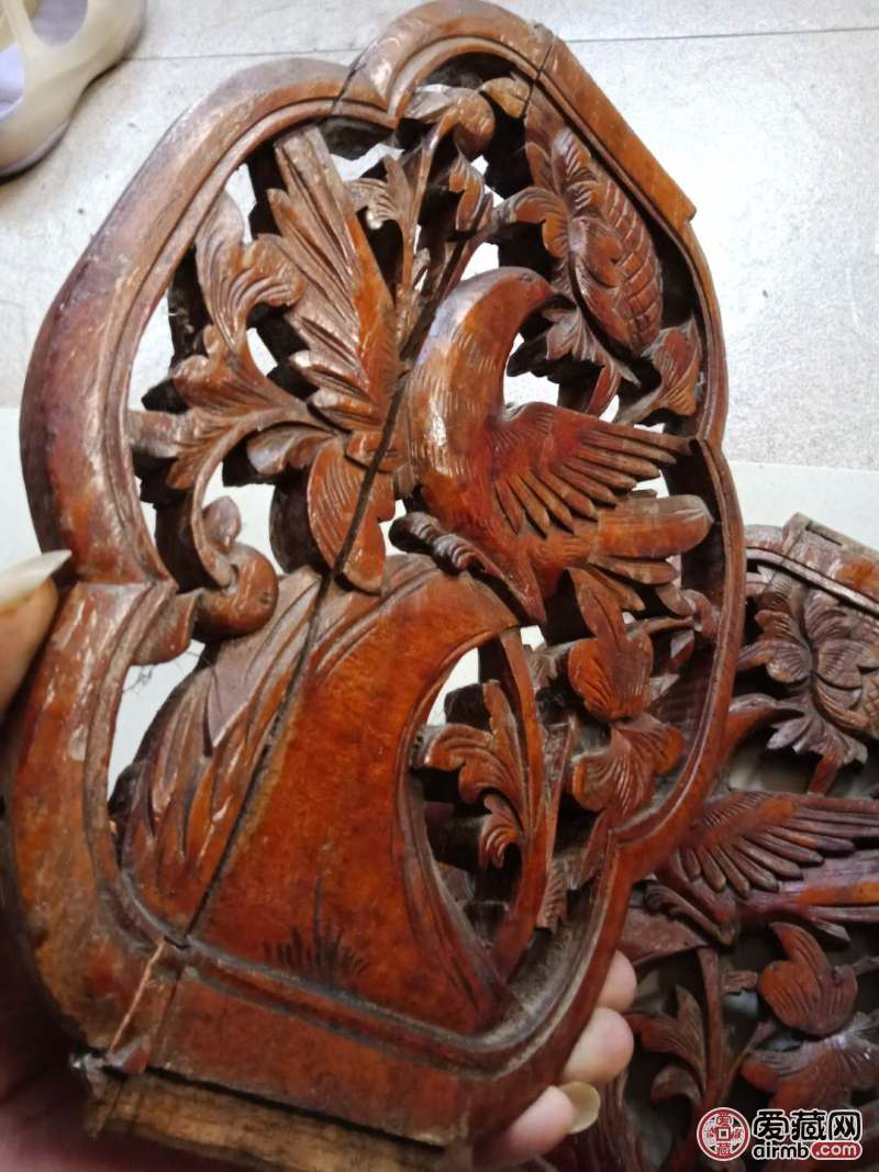民国时期的双面工镂空雕花