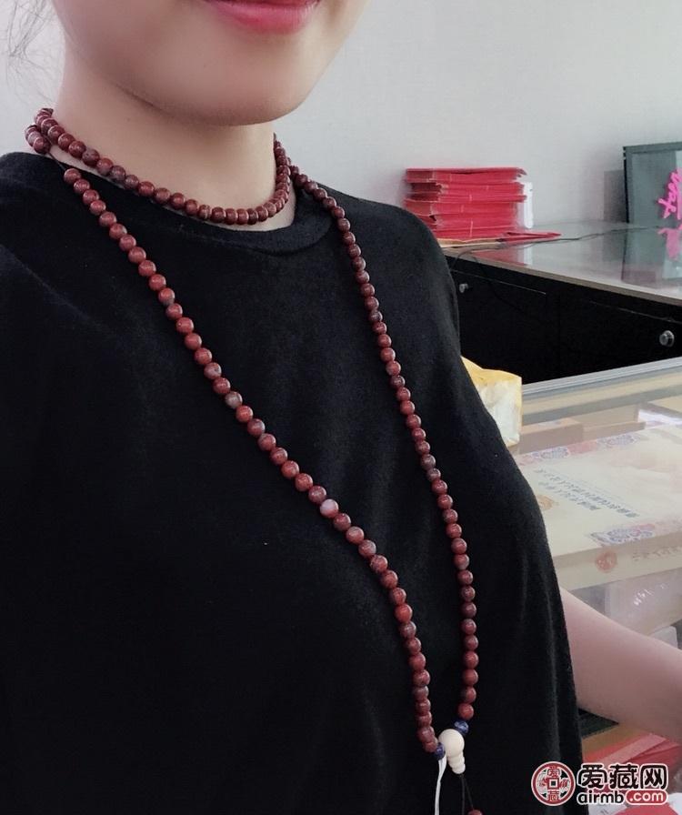 南红玛瑙长链...珠子直