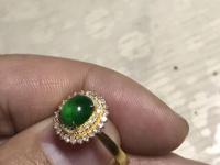 带绿辉石翡翠戒指价格