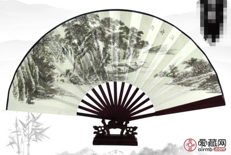 大型木柄折纸扇工艺品直径