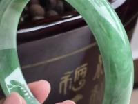 糯冰紫罗兰飘花翡翠手镯价格