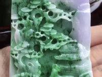 冰种三色翡翠挂件价格