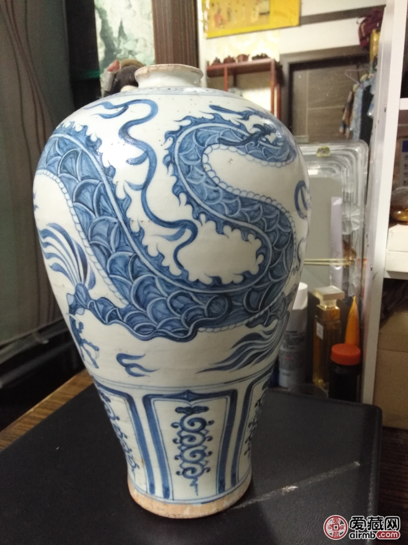 龙凤梅花瓶,祖传。