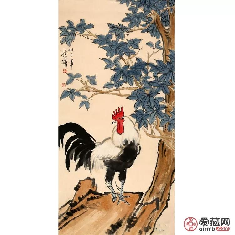 徐悲鸿作品《鸡》作品作者