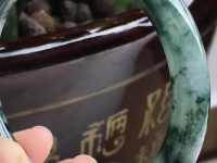 油青满绿翡翠手镯价格