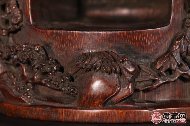 竹雕福纹佛龛尺寸:高21