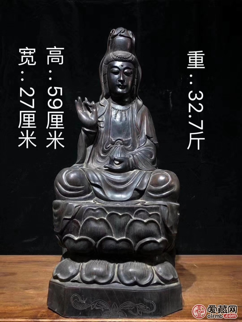 清代精品紫檀木精雕