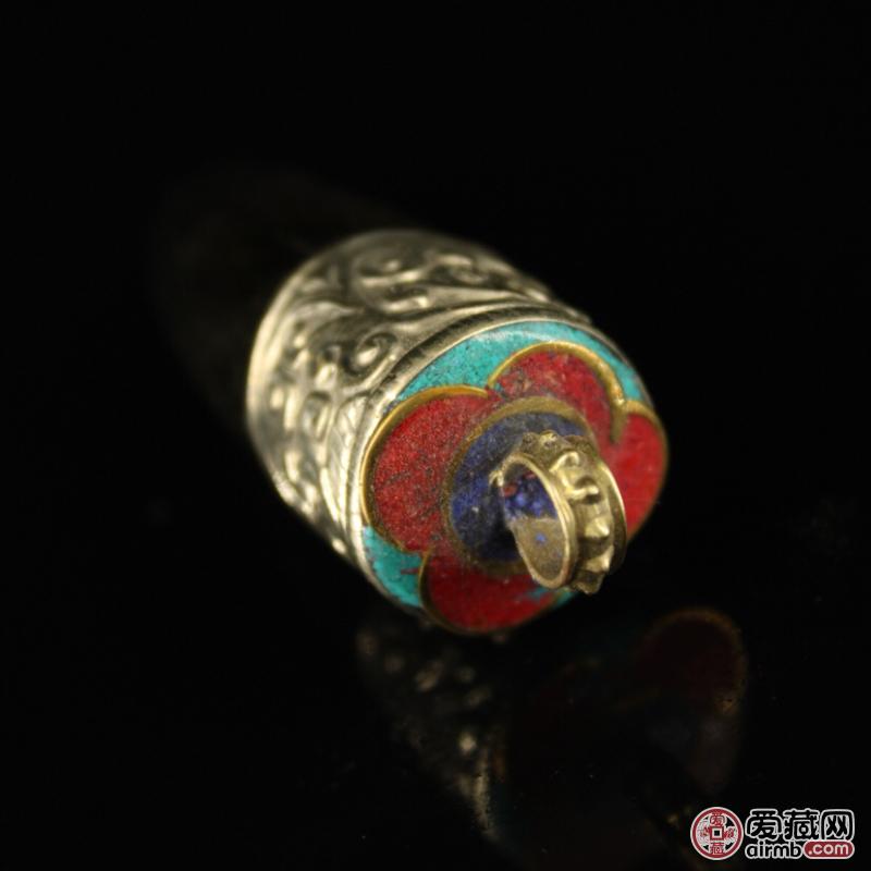 西藏收老纯手工牦牛角尖包
