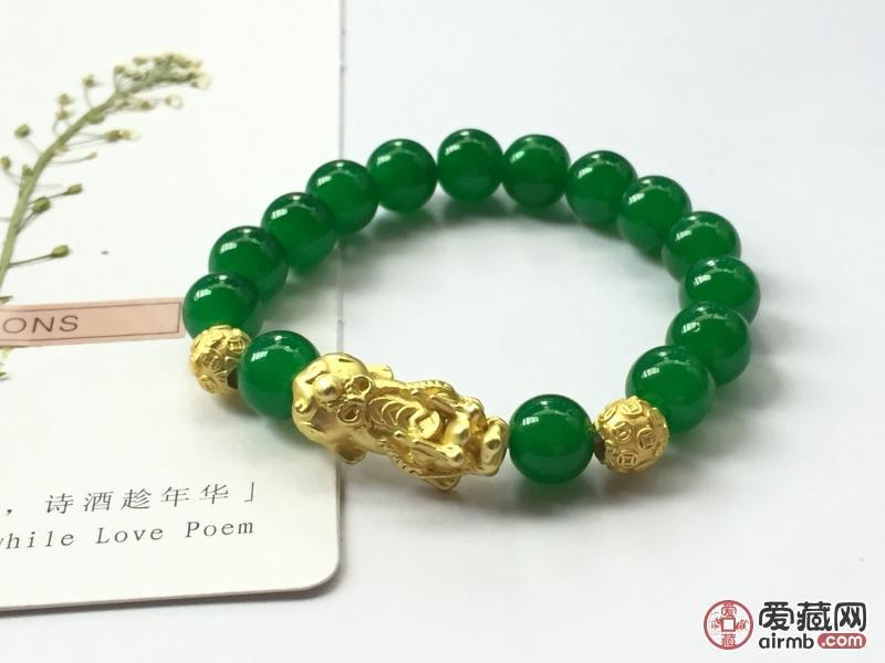 169绿珠招财辟邪貔貅手