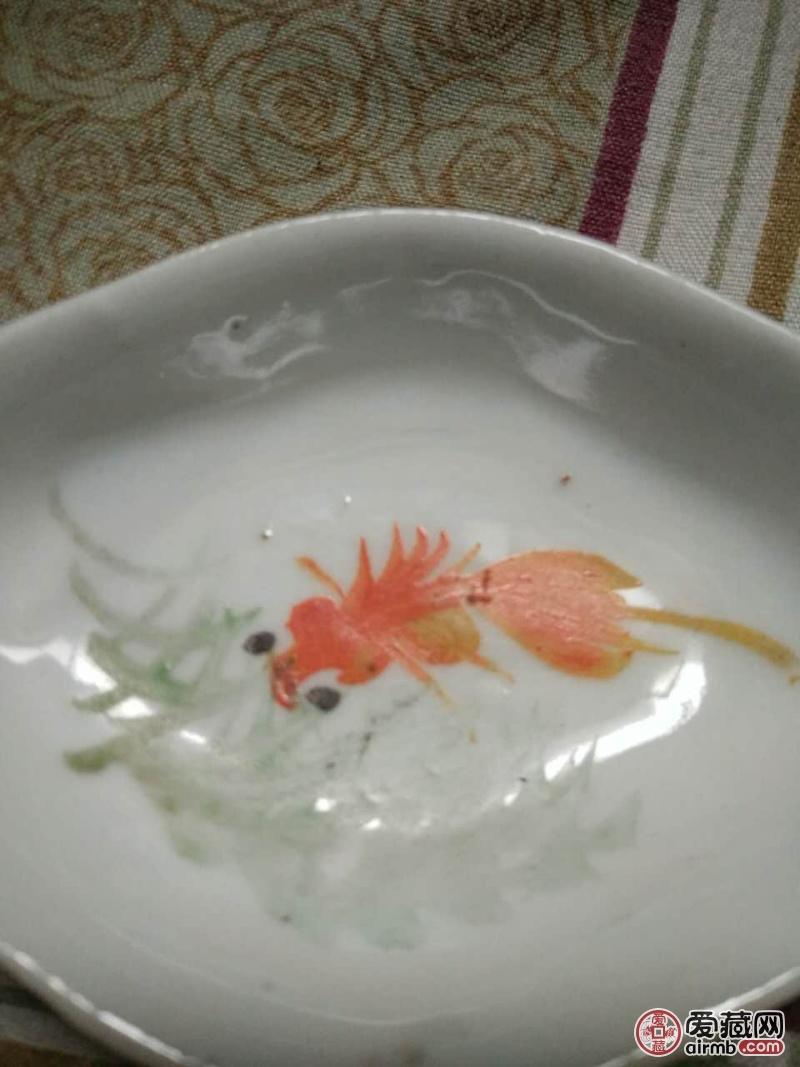 民国时期,手绘金鱼小
