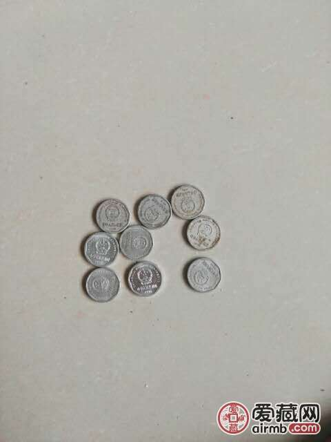我的旧版一角硬币91到9