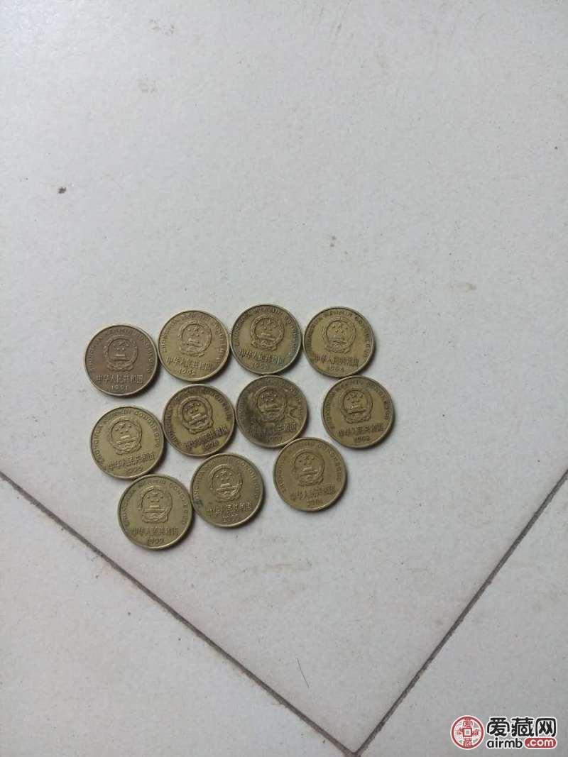 梅花5角硬币1991年至